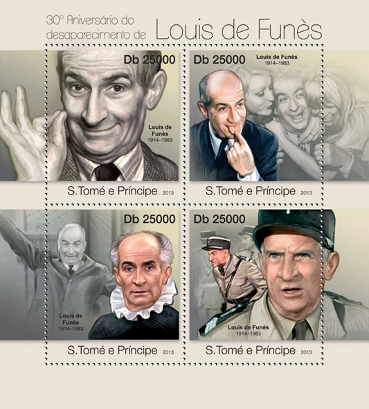 Luis de Funes - Issue of Sao Tome and Principe postage stamps