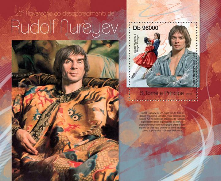 Rudolf Nureyev - Issue of Sao Tome and Principe postage stamps