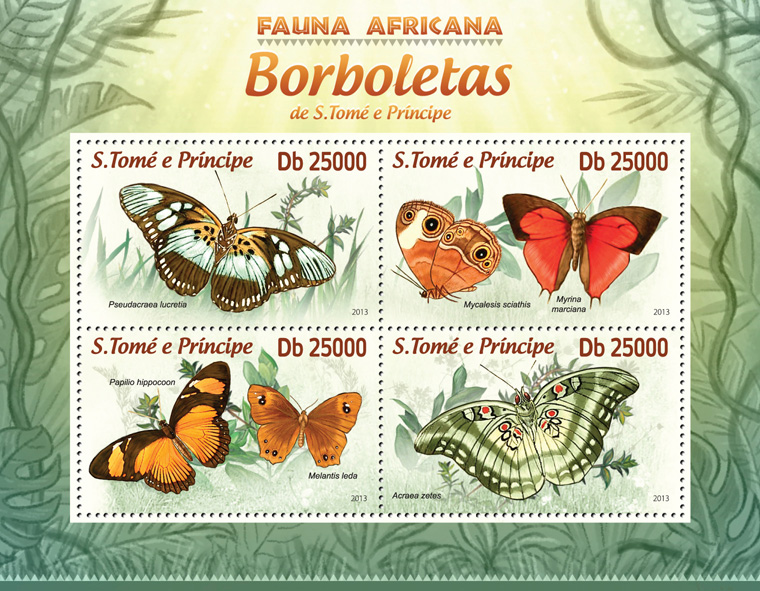 Butterflies II - Issue of Sao Tome and Principe postage stamps