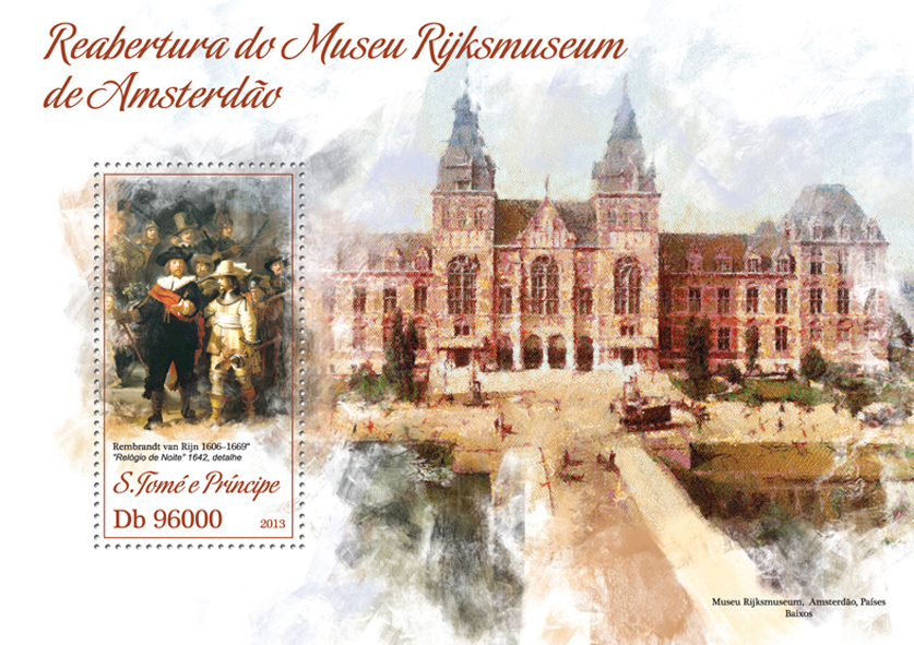 Museum of Amsterdam - Issue of Sao Tome and Principe postage stamps