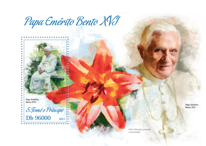 Pope Benedict XVI - Issue of Sao Tome and Principe postage stamps