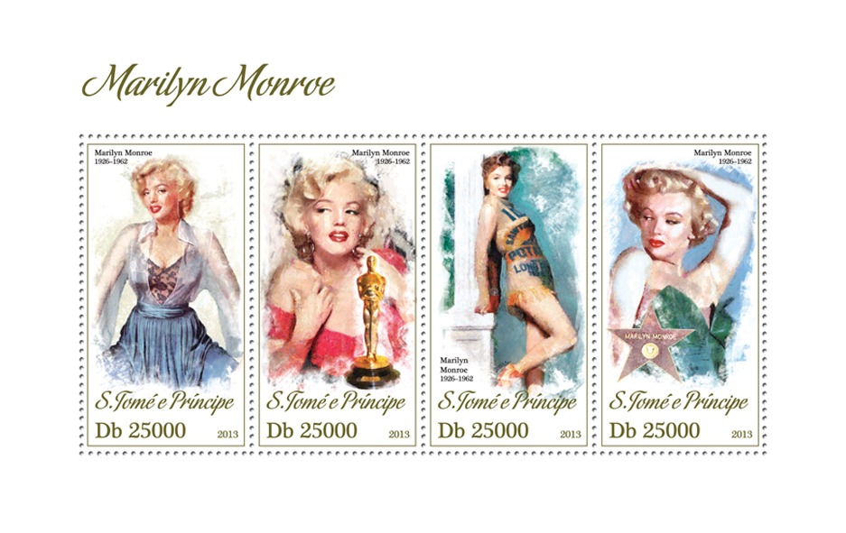 Marilyn Monroe - Issue of Sao Tome and Principe postage stamps