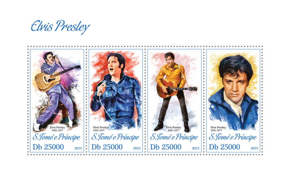 Elvis Presley - Issue of Sao Tome and Principe postage stamps