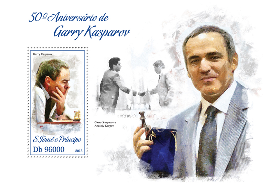 Garry Kasparov - Issue of Sao Tome and Principe postage stamps