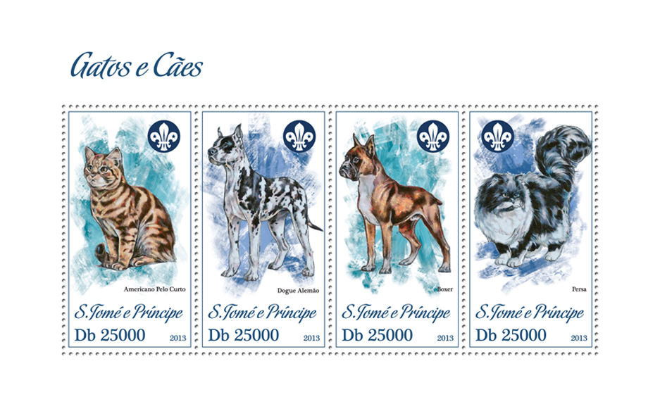 Cats and Dogs - Issue of Sao Tome and Principe postage stamps