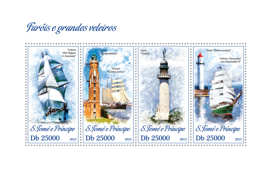 Lighthouses and Ships - Issue of Sao Tome and Principe postage stamps