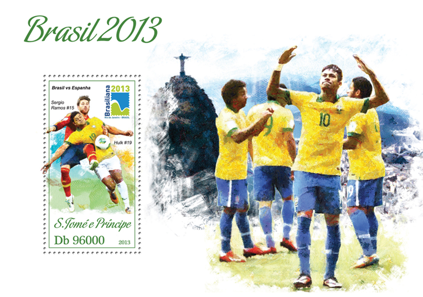 Cup Brazil 2013 - Issue of Sao Tome and Principe postage stamps