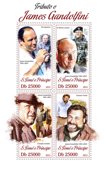 James Gandolfini - Issue of Sao Tome and Principe postage stamps