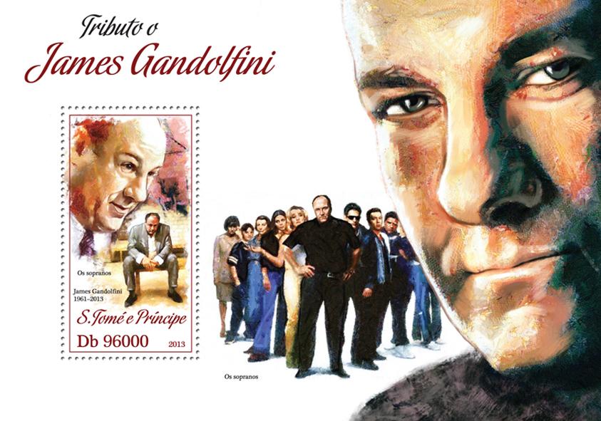 James Gandolfini - Issue of Sao Tome and Principe postage stamps