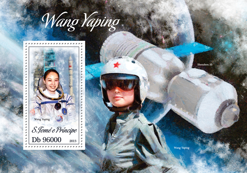 Wang Yaping - Issue of Sao Tome and Principe postage stamps