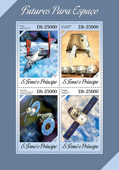 Space - Issue of Sao Tome and Principe postage stamps