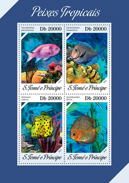 Fishes - Issue of Sao Tome and Principe postage stamps