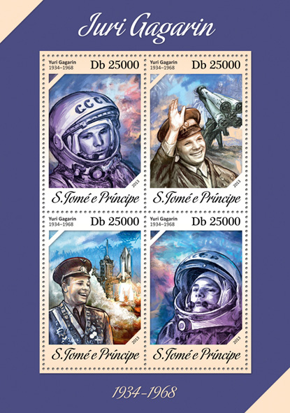 Yuri Gagarin - Issue of Sao Tome and Principe postage stamps