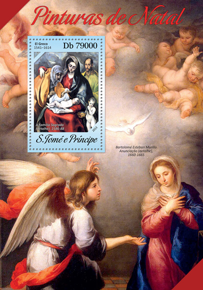 Christmas paintings - Issue of Sao Tome and Principe postage stamps