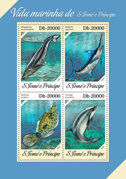 Marine life - Issue of Sao Tome and Principe postage stamps