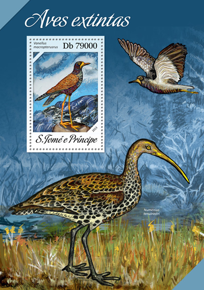 Extinct birds - Issue of Sao Tome and Principe postage stamps