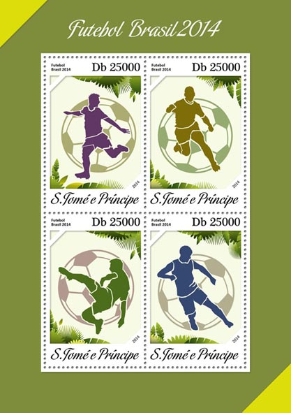 Brazil 2014 - Issue of Sao Tome and Principe postage stamps