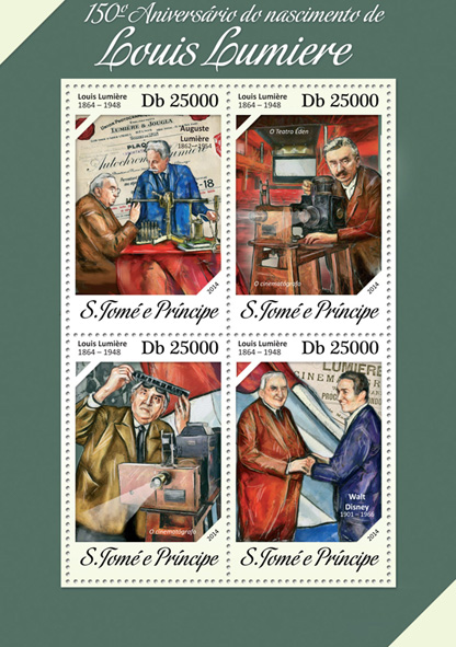 Louis Lumiere - Issue of Sao Tome and Principe postage stamps