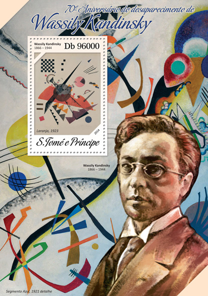 Wassily Kandinsky - Issue of Sao Tome and Principe postage stamps