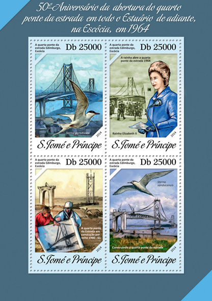 Bridge - Issue of Sao Tome and Principe postage stamps