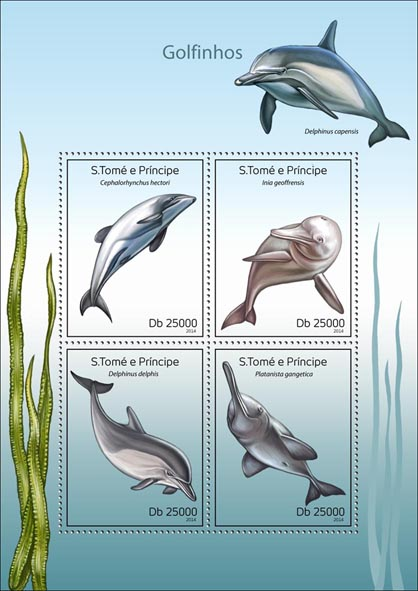 Dolphins - Issue of Sao Tome and Principe postage stamps