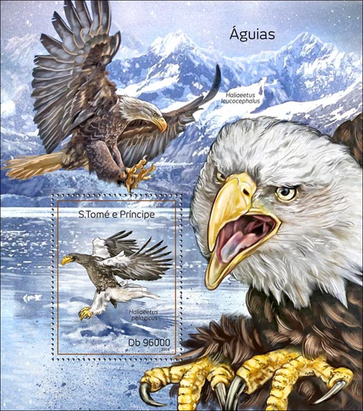Eagles - Issue of Sao Tome and Principe postage stamps