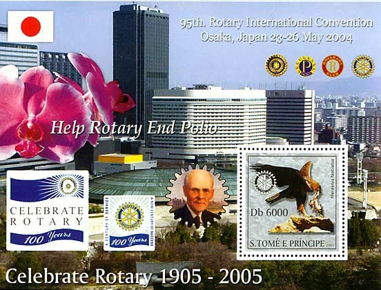 95th. Rotary International Convention Osaka, Japan 23-26 May 2004 - Issue of Sao Tome and Principe postage stamps