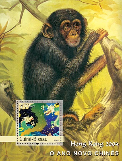 New Chinese Year & Monkeys s/s - Issue of Sao Tome and Principe postage stamps