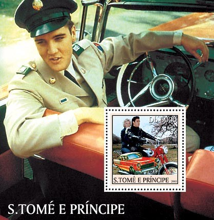 Celebrities s/s - 5000 Db - Issue of Sao Tome and Principe postage stamps