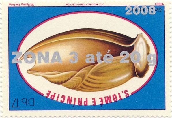 Shell - Issue of Sao Tome and Principe postage stamps