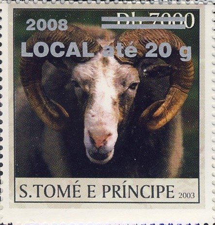 Mouflon (2008) - silver - LOCAL ate 20g - Issue of Sao Tome and Principe postage stamps