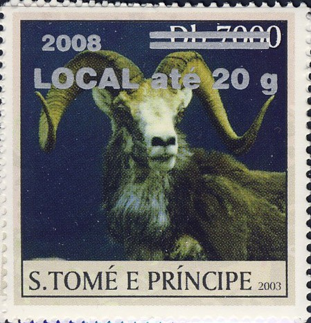 Mouflon II (2008) - silver - LOCAL ate 20g - Issue of Sao Tome and Principe postage stamps