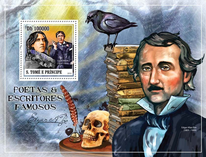 Famous Poets & Writers - Issue of Sao Tome and Principe postage stamps