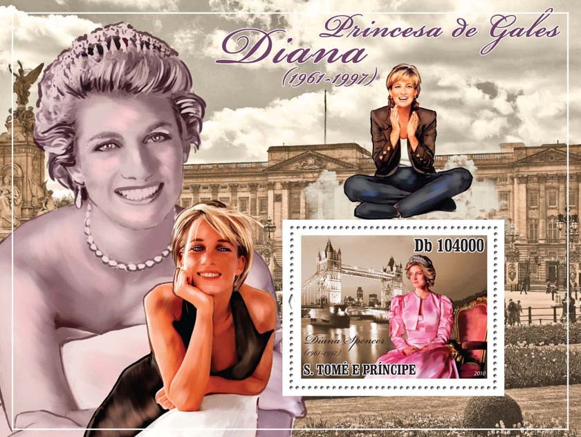 Princes of Wales Diana (19611997) - Issue of Sao Tome and Principe postage stamps