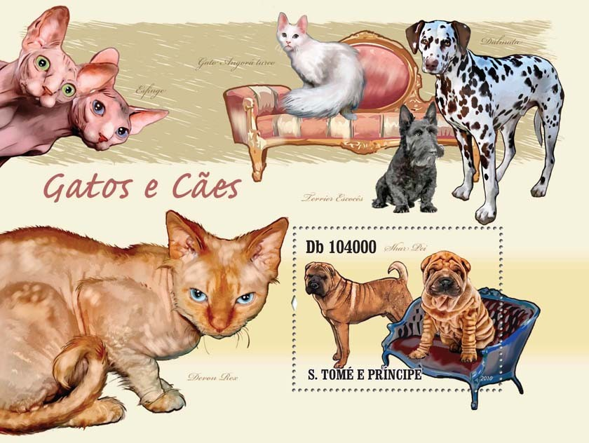 Cats & Dogs - Issue of Sao Tome and Principe postage stamps