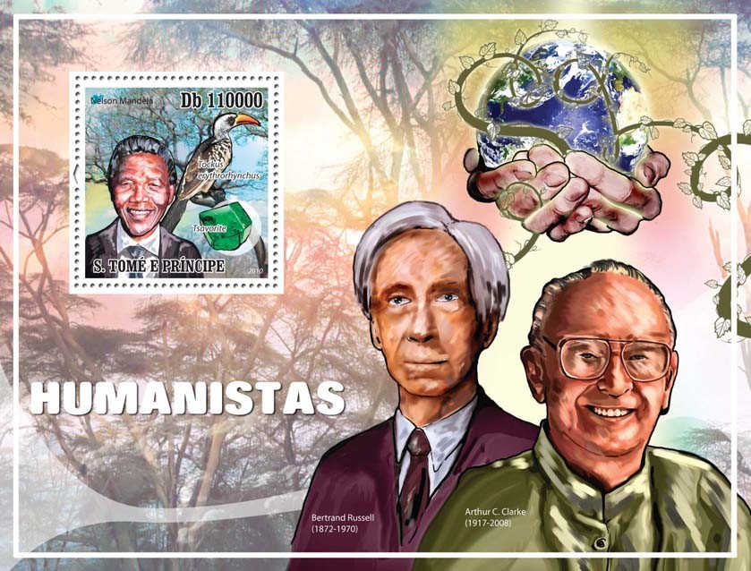 Humanists - Issue of Sao Tome and Principe postage stamps