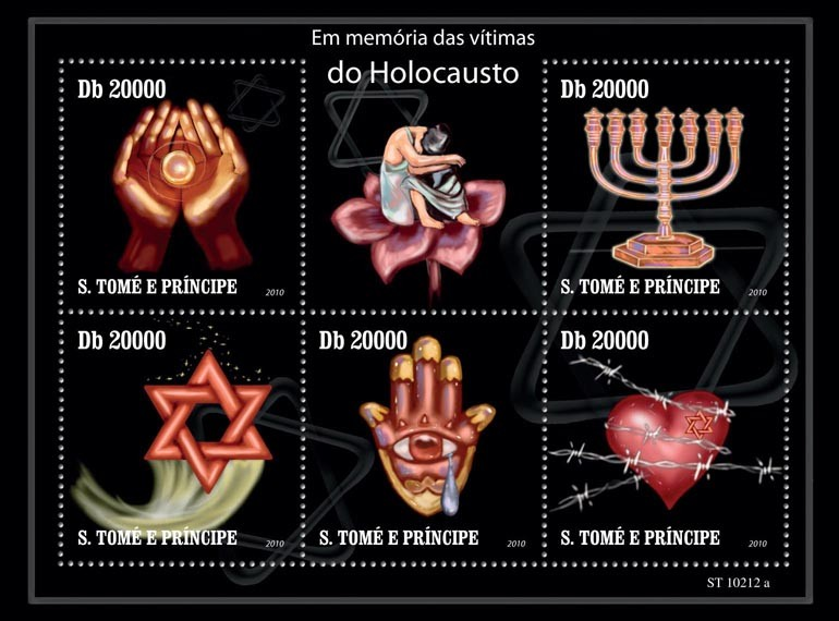 In Memory of Holocaust Victims - Issue of Sao Tome and Principe postage stamps