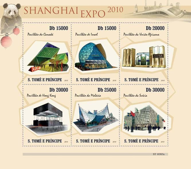 Shanghai Expo 2010 - Issue of Sao Tome and Principe postage stamps