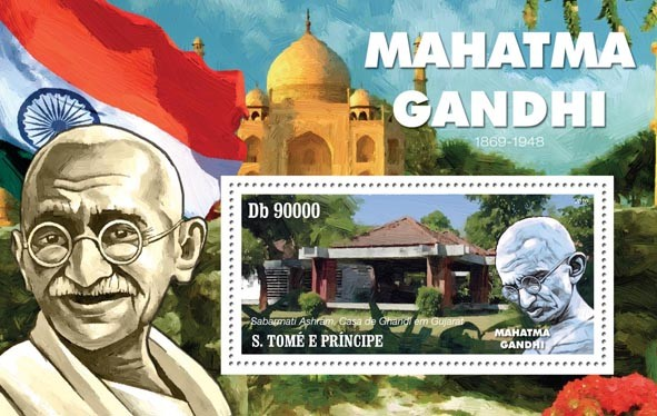 Mahatma Gandhi ( 1869  1948 ) - Issue of Sao Tome and Principe postage stamps
