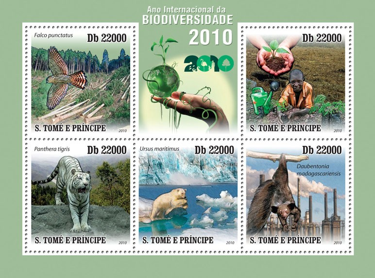 International Year of Biodiversity 2010 - Issue of Sao Tome and Principe postage stamps