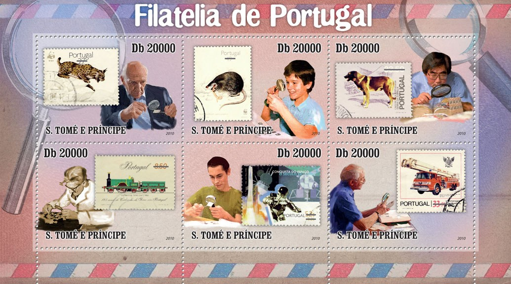 Stamps of Portugal - Issue of Sao Tome and Principe postage stamps