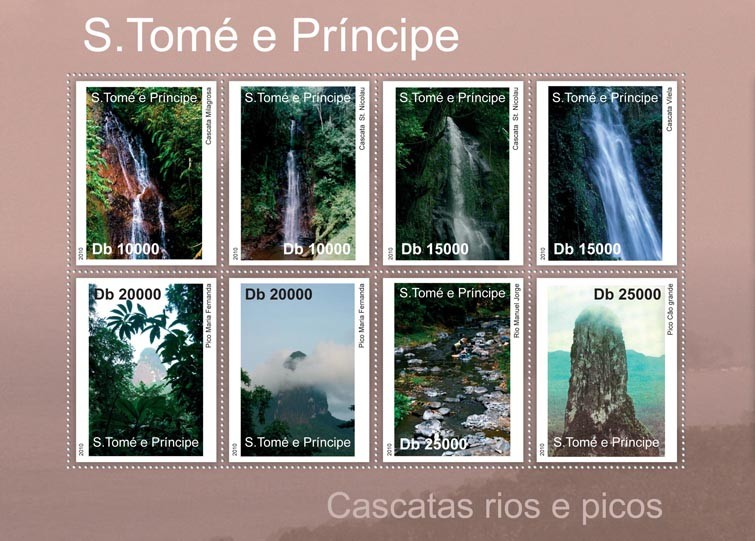 Rivers & Waterfalls Peaks. - Issue of Sao Tome and Principe postage stamps