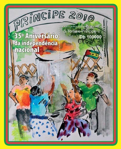 35th Independence of Sao tome & Principe. - Issue of Sao Tome and Principe postage stamps