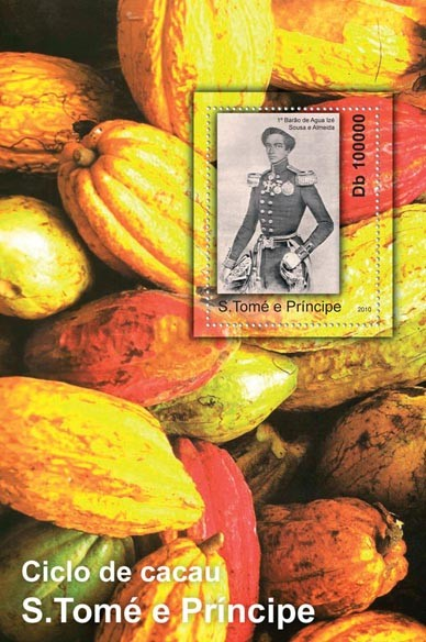 Cycle of Cocoa, (S/S 1). - Issue of Sao Tome and Principe postage stamps