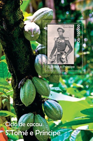 Cycle of Cocoa, (S/S 2). - Issue of Sao Tome and Principe postage stamps