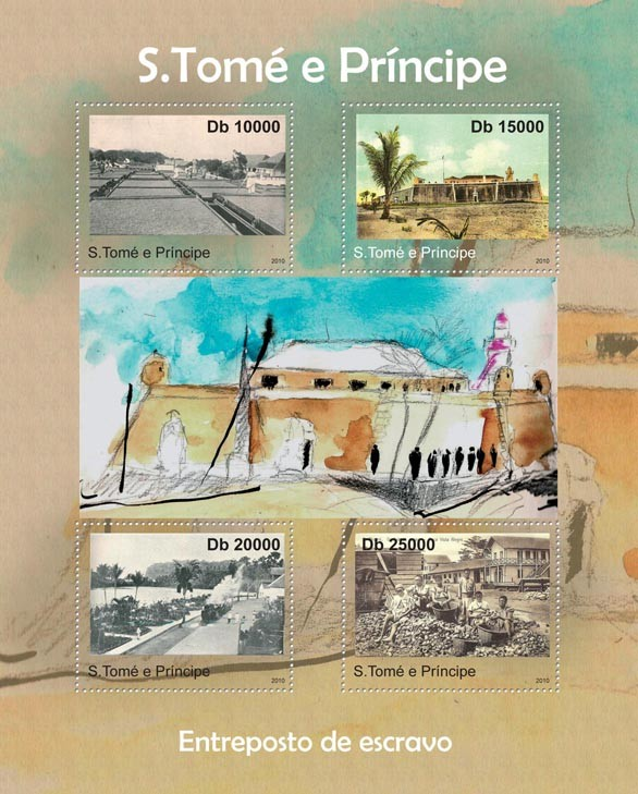 Slave Warehouses. - Issue of Sao Tome and Principe postage stamps