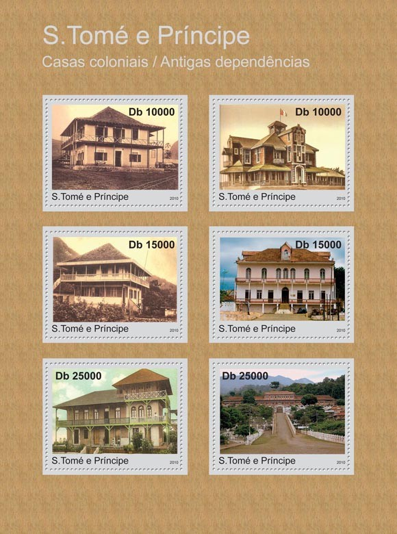 Homes of Settlers & Former Dependencies. - Issue of Sao Tome and Principe postage stamps