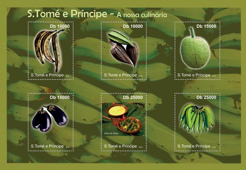Culinary of Sao Tome & Principe. - Issue of Sao Tome and Principe postage stamps