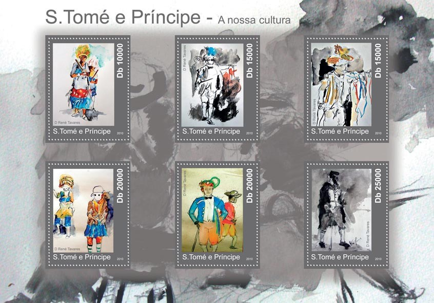 Culture of Sao Tome & Principe, (Paintings). - Issue of Sao Tome and Principe postage stamps
