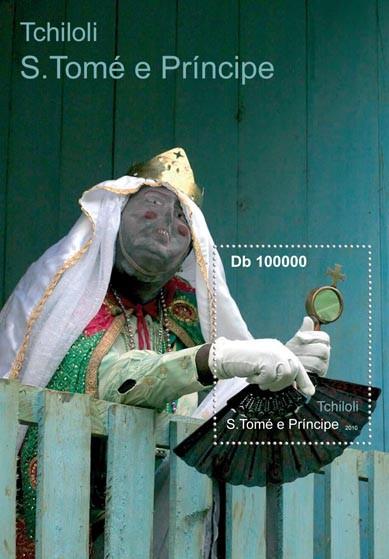 Culture of Sao tome & Principe, (Tchiloli, S/S 2). - Issue of Sao Tome and Principe postage stamps